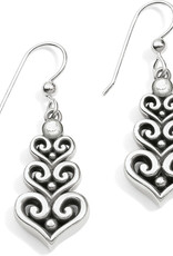 BRIGHTON JA5171 Alcazar Heart Trio French Wire Earrings