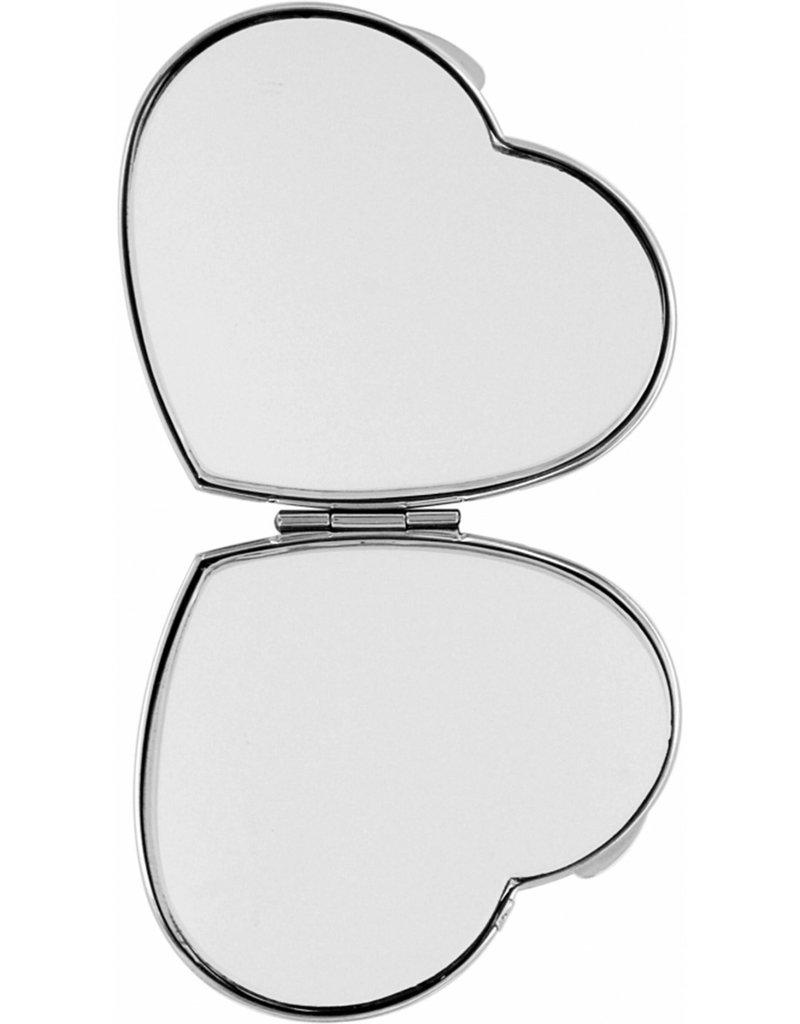 BRIGHTON E5343N CRUZ HEART COMPACT MIRROR
