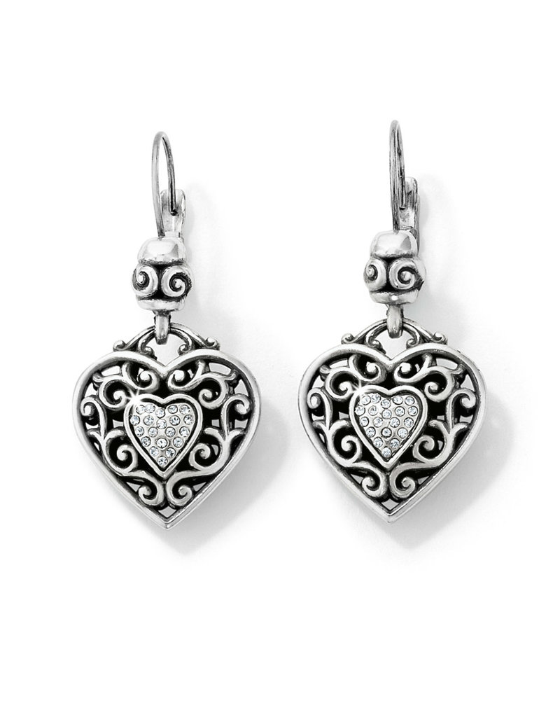 BRIGHTON J14692 Reno Heart Leverback Earrings