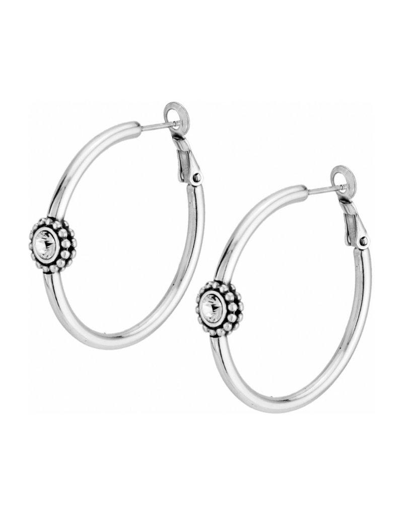 BRIGHTON JE1382 Twinkle Medium Hoop Post Earrings