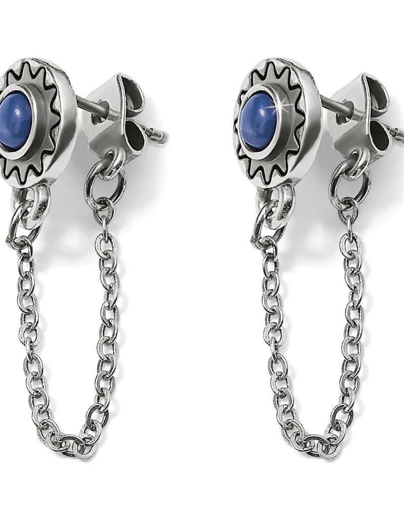 BRIGHTON JA5052 Marrakesh Mirage Chain Loop Earrings