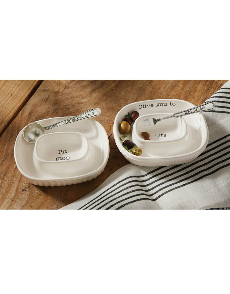 MUD PIE 40970004 OLIVE BOWL SET
