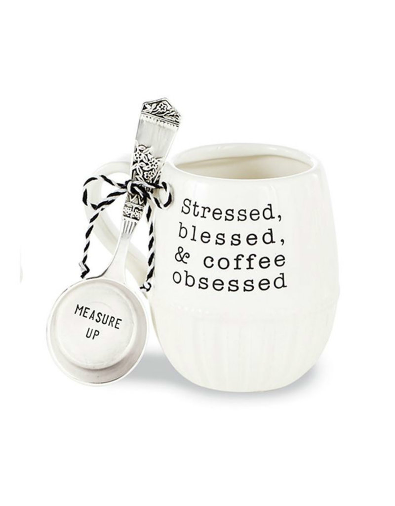 MUD PIE 43500043S STRESSED COFFEE MUG SET