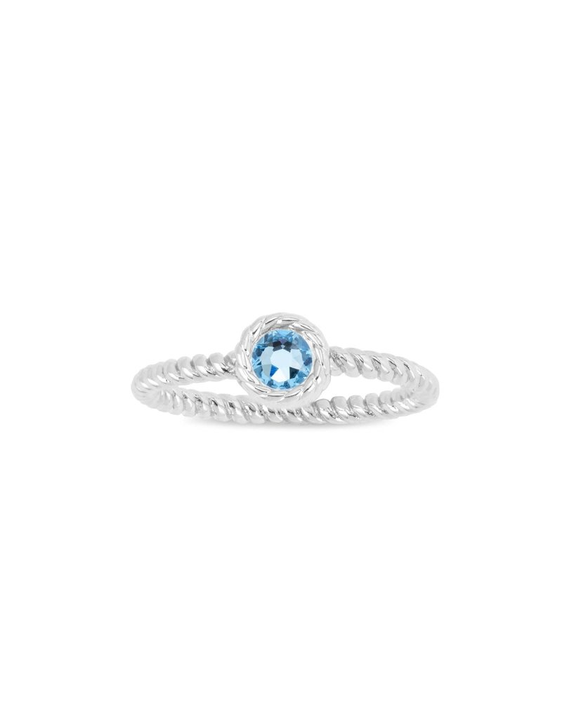 LUCA AND DANNI RG120S8 MARCH BIRTHSTONE RING SILVER SIZE 8