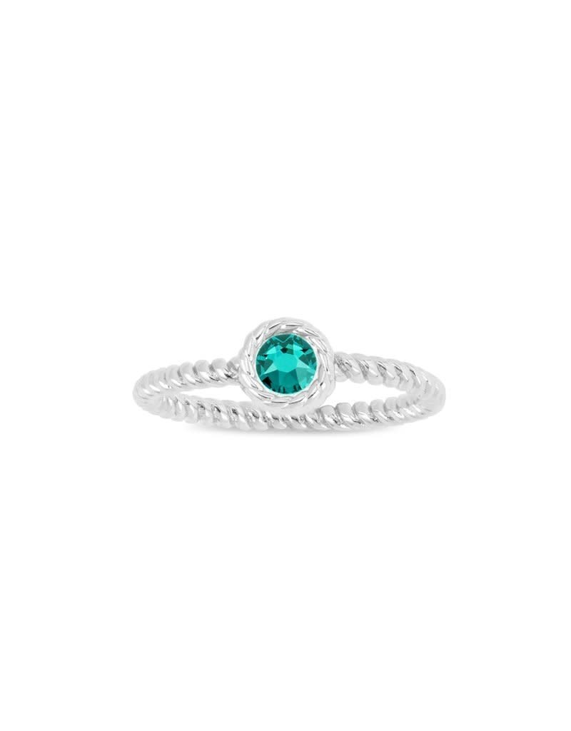 LUCA AND DANNI RG122S7 MAY BIRTHSTONE RING SILVER SIZE 7