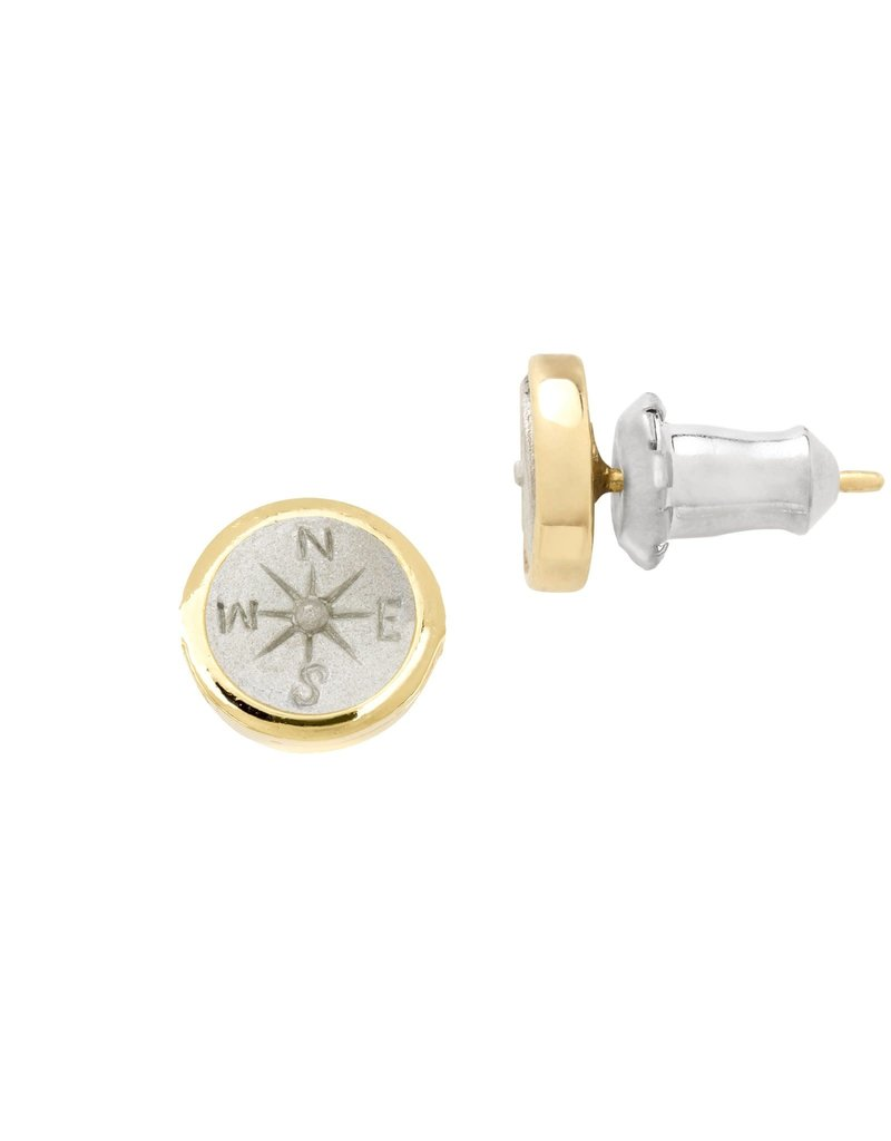 LUCA AND DANNI ER137G COMPASS STUD EARRINGS_GOLD TONE