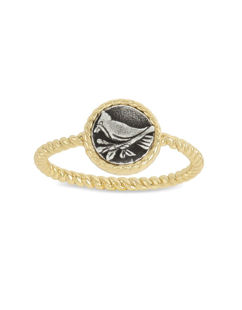 LUCA AND DANNI RG148G6 Cardinal Ring_gold plated_sz6