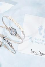 LUCA AND DANNI STC861S BLUE BABY FEET BRACELET SILVER TONE REGULAR