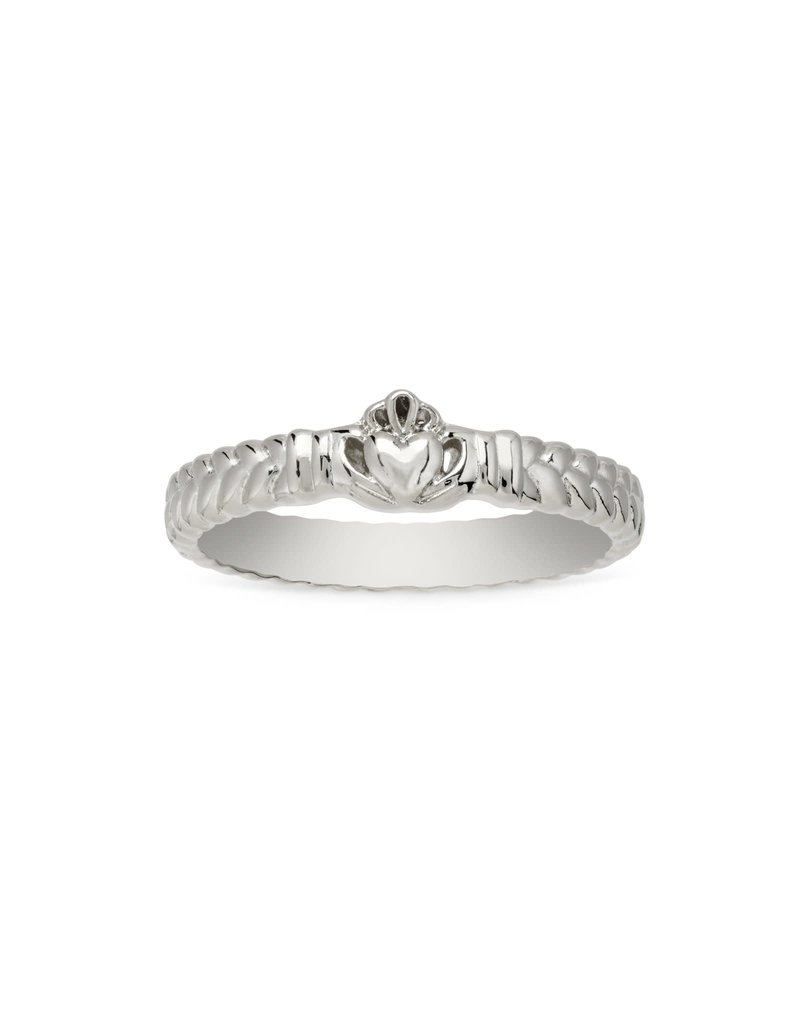 LUCA AND DANNI RG151S8 CLADDAGH RING IN SILVER SIZE 8