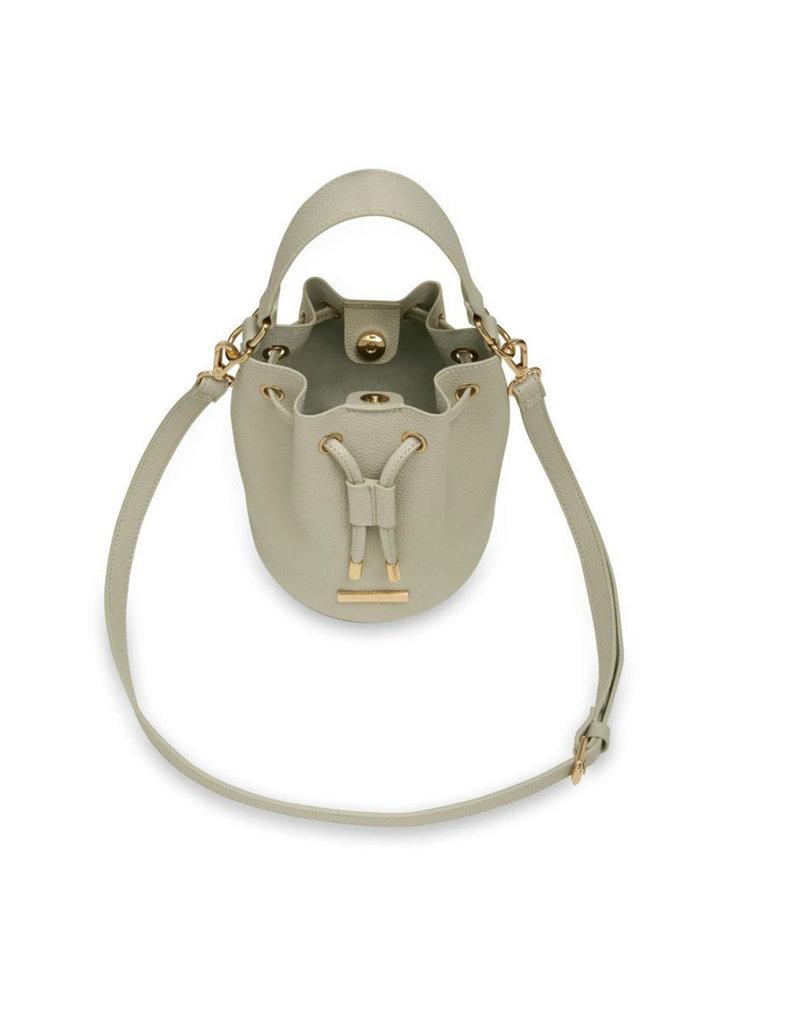 KATIE LOXTON KLB856 CHLOE MINI BUCKET BAG | WARM GREY | 20 X 16.5 X 16.5CM