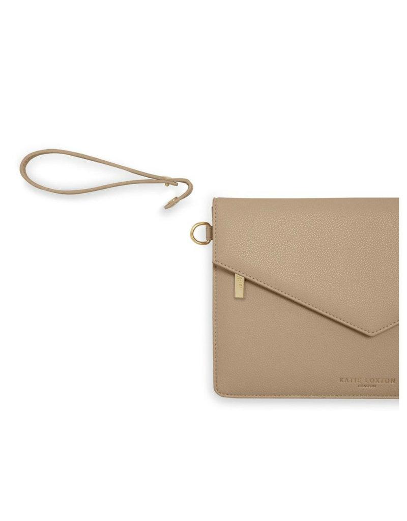 KATIE LOXTON *KLB794 ESME ENVELOPE CLUTCH BAG | TRES CHIC | TAUPE  | 16 X 26 CM
