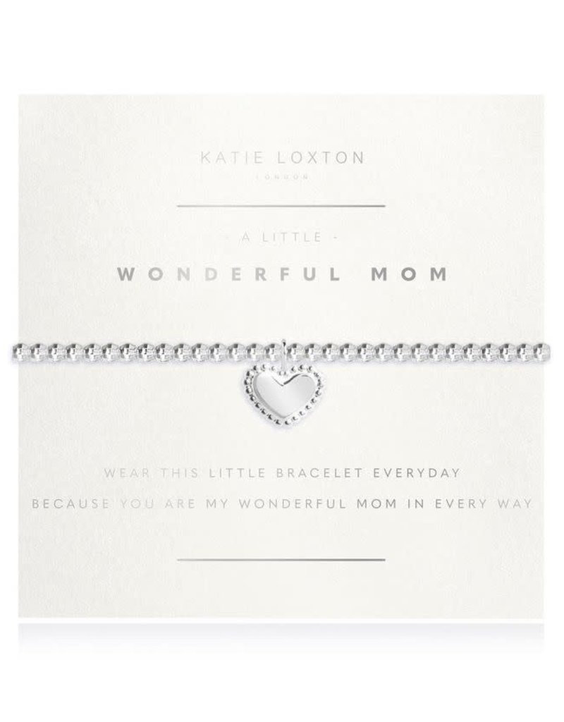 KATIE LOXTON *KLJ3188 Facetted A Little - Wonderful Mom - Silver - 17.5cm stretch