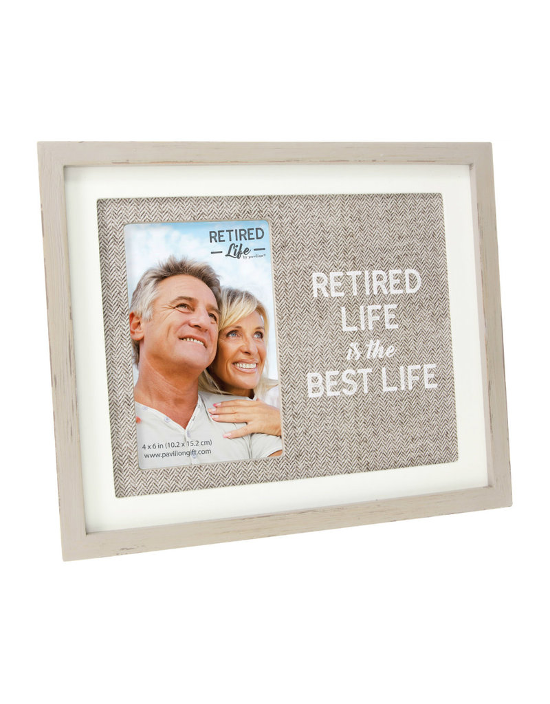23521 Retired life is the best life frame