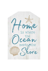 HOU0112 Home Is Where The Ocean Meets The Shore - 5.25X8