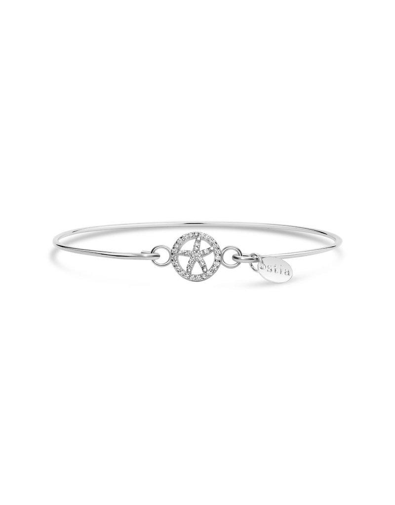 STIA Pave ICON Bracelet - Starfish Circle
