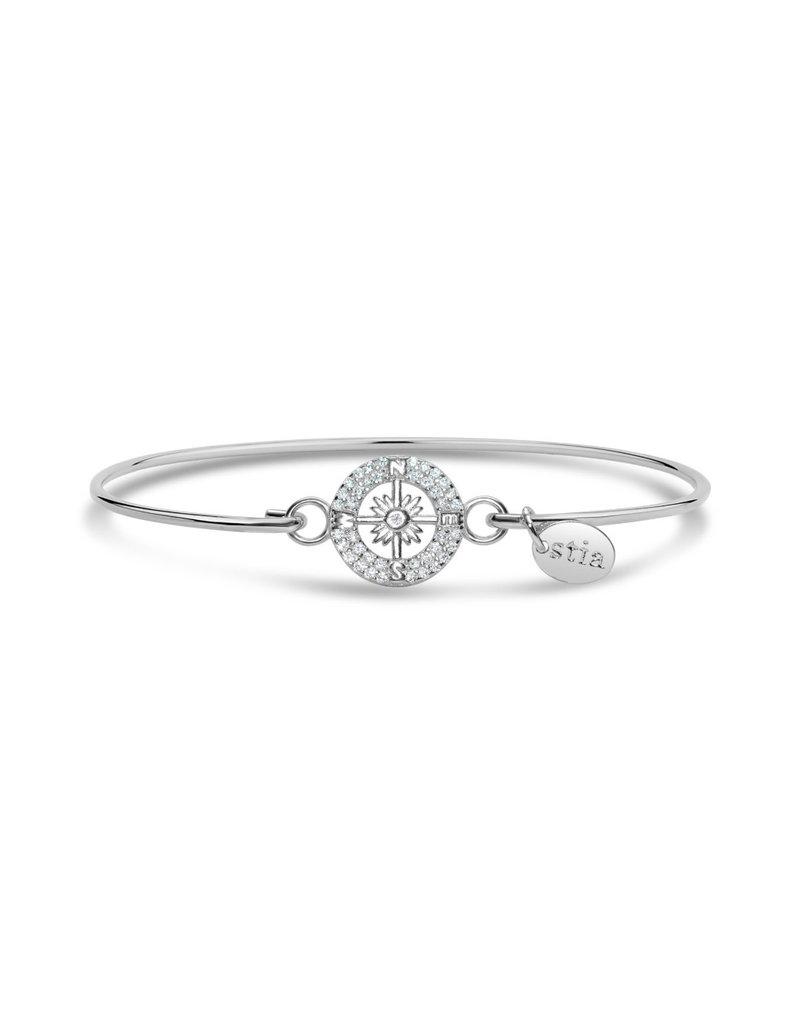 STIA Pave ICON Bracelet - Compass