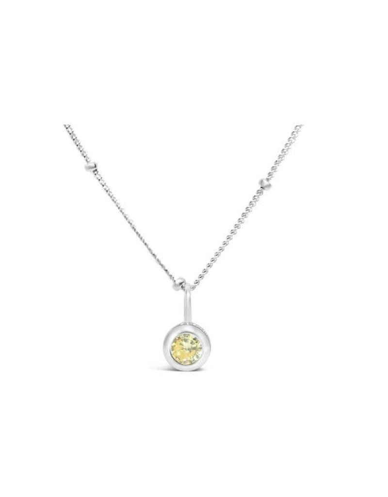 STIA CZ Bezel Necklace - Citrine (November)