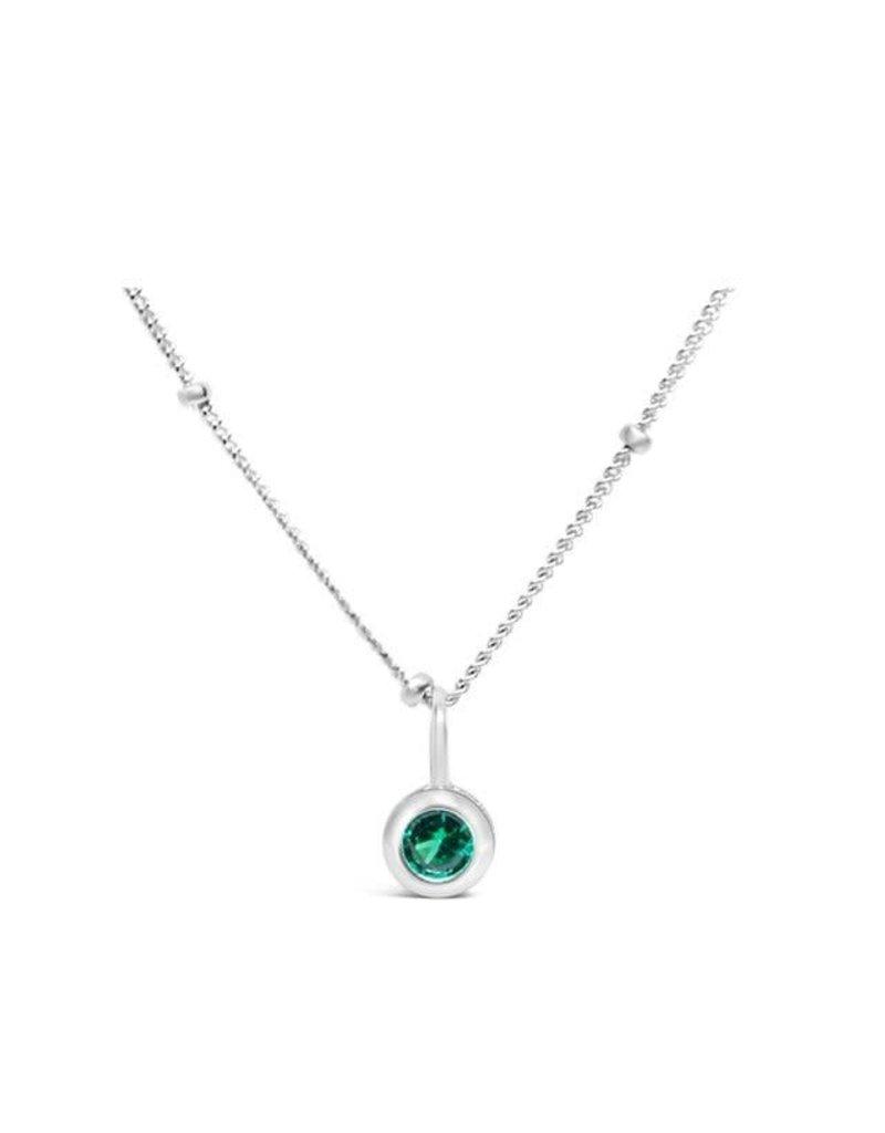 STIA CZ Bezel Necklace - Emerald (May)