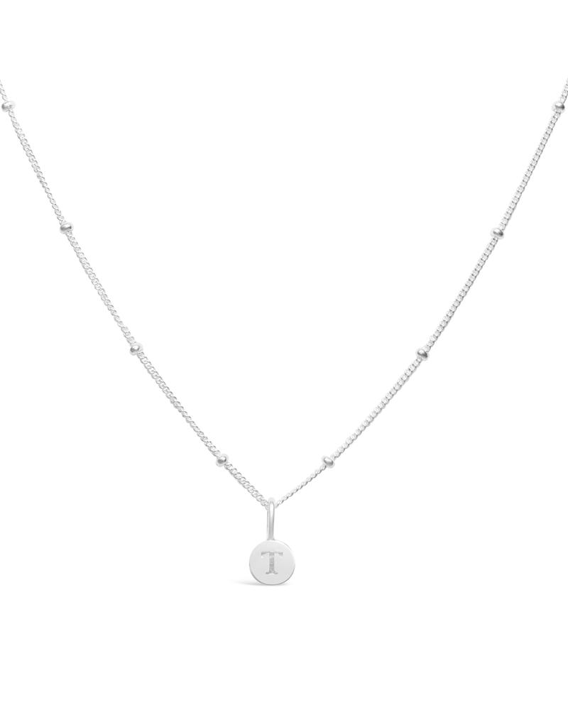 STIA Love Letters - Mini Disk Letter Necklace T