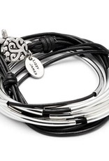 LIZZY JAMES LIZZY CLASSIC NAT BLACK SILVERPLATE LARGE