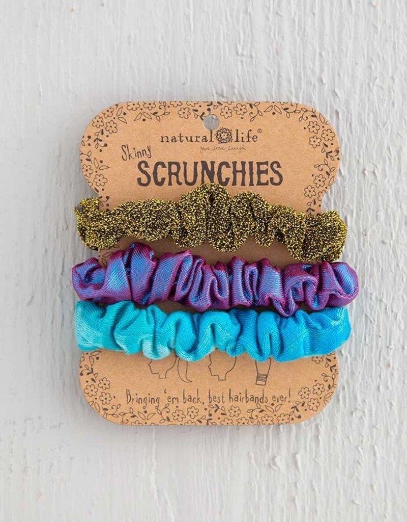NATURAL LIFE HDBN395 Scrunchie Turq TD Copper Purpl