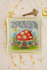 NATURAL LIFE GLST099 Tiny Cabin Glass Keepsake