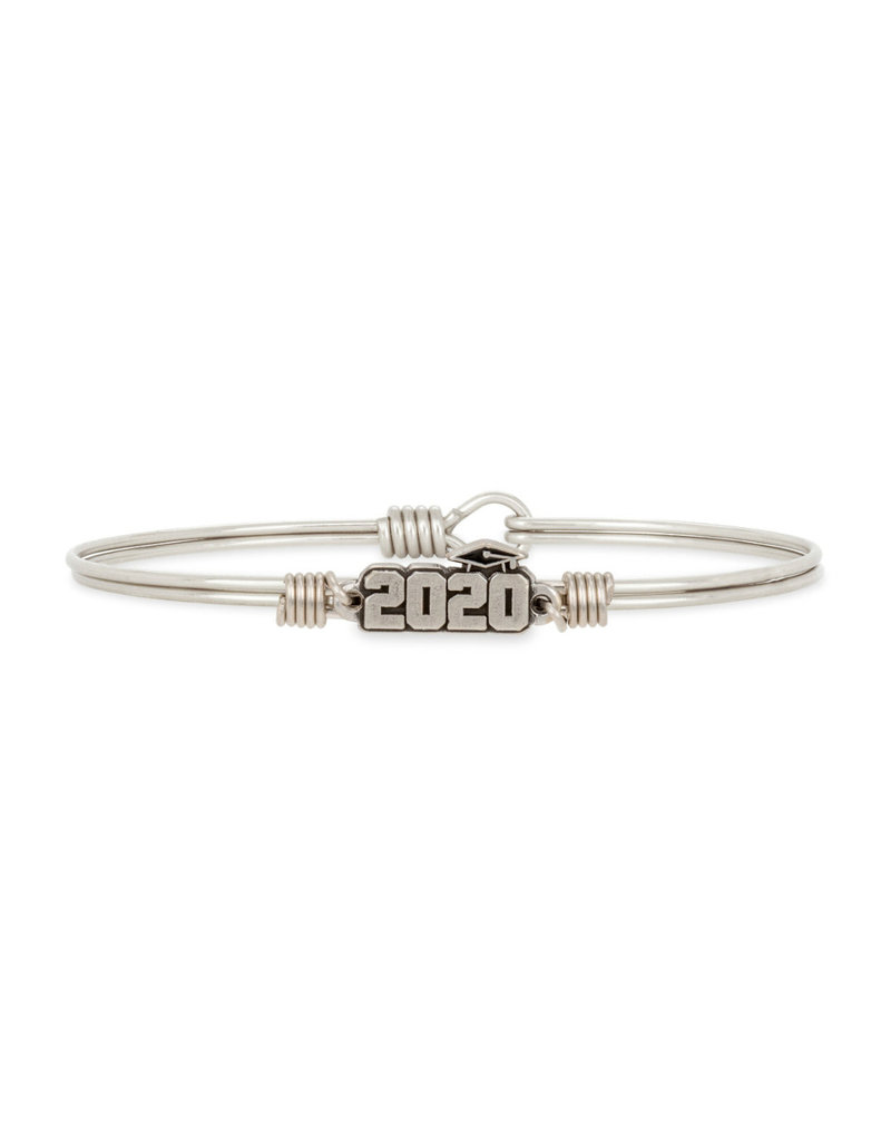 LUCA AND DANNI STC882S Graduation 2020 Bangle Bracelet_Silver Tone_Regular