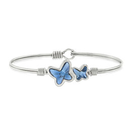 LUCA AND DANNI STC933S Butterflies Bangle Bracelet in Denim Blue_Silver Tone_Regular