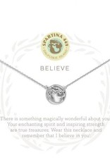 Spartina 449 512305 BELIEVE/ MERMAID NECKLACE SILVER
