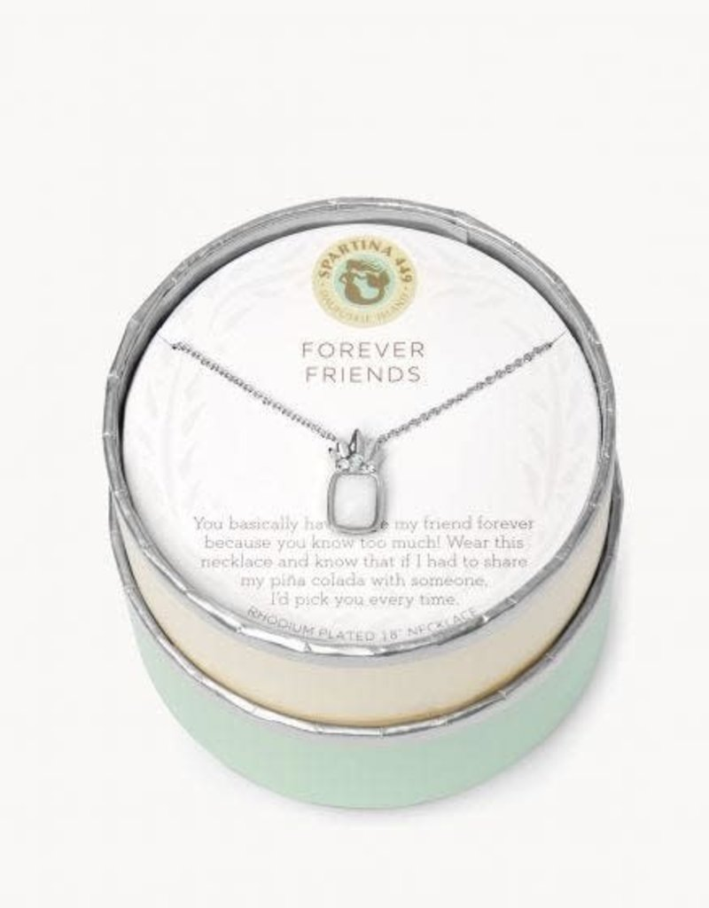 "Spartina 449 291452 SLV NECKLACE 18"" FOREVER FRIENDS/PINA COLADA SILVER"