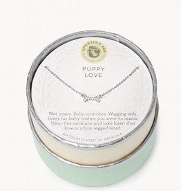 "Spartina 449 291391 SLV NECKLACE 18"" PUPPY LOVE/BONE SILVER"