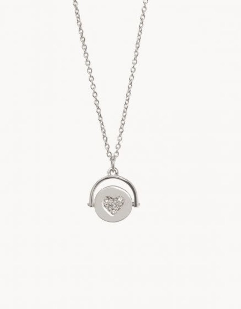 Spartina 449 291414 SEA LA VIE TO THE MOON BACK REVERSIBLE NECKLACE SILVER