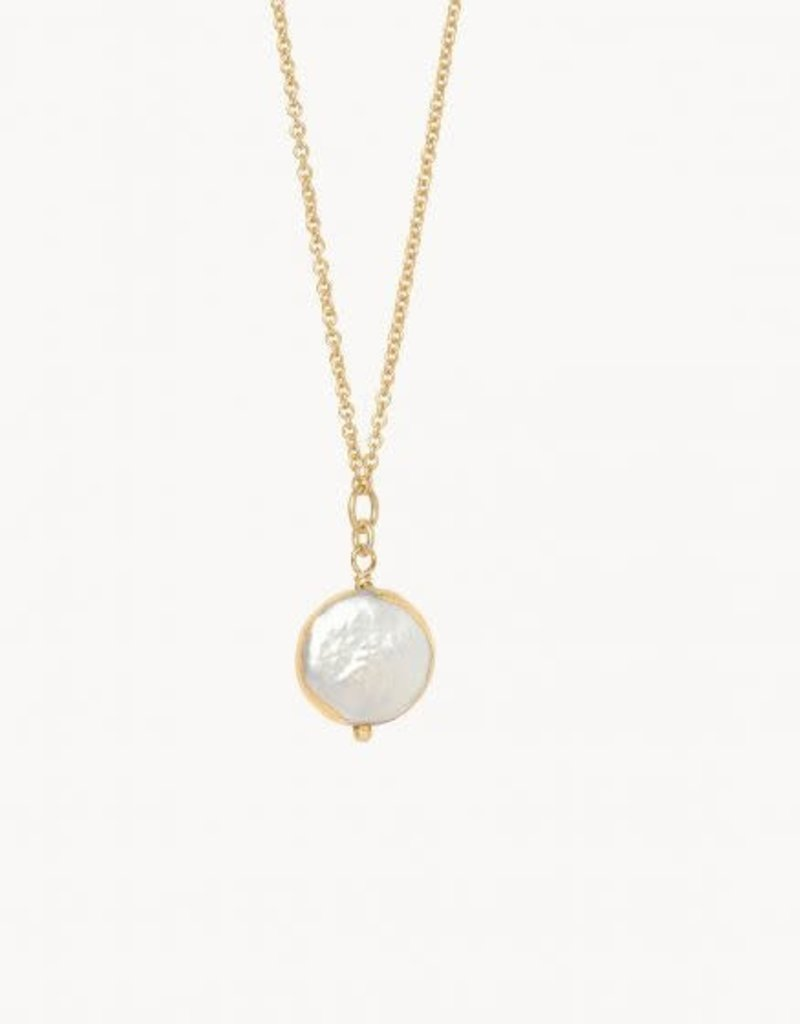 "Spartina 449 291315 SLV Necklace 18"" Survivor/Coin Pearl"