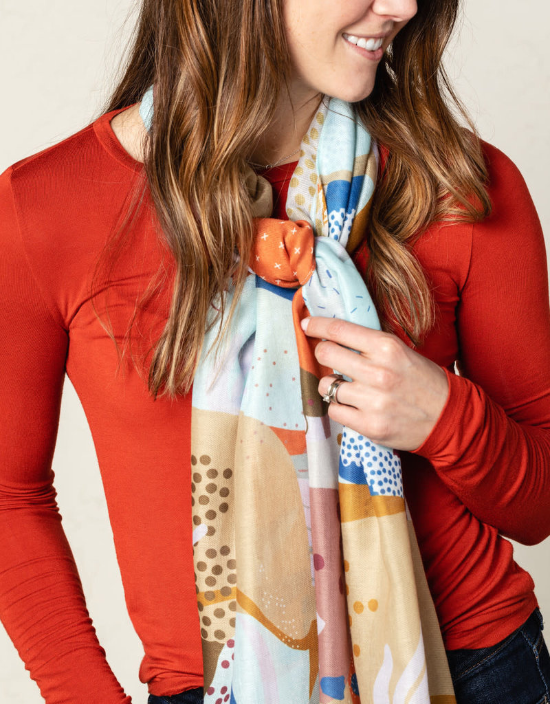 WILLOW TREE SCARF AUTUMN ABSTRACT