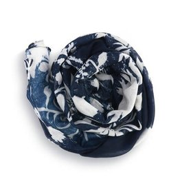 WILLOW TREE SCARF NAVY FLORAL
