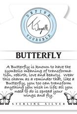 T JAZELLE Sunstone Stone Bracelet with Butterfly Sterling Silver Charm