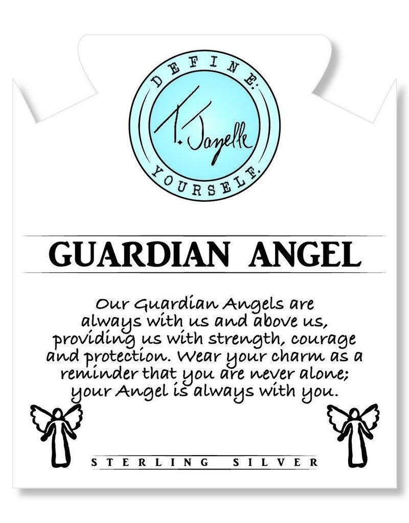 T JAZELLE Kunzite Stone Bracelet with Guardian Angel Sterling Silver Charm