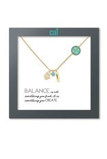 31852 GOLD BANLANCE AS YOU WISH NECKLACE