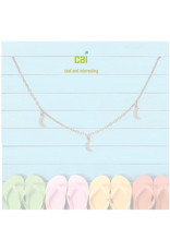 22967 silver moon dainty + dangle anklets
