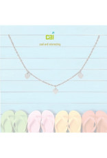 22969 silver heart dainty + dangle anklets