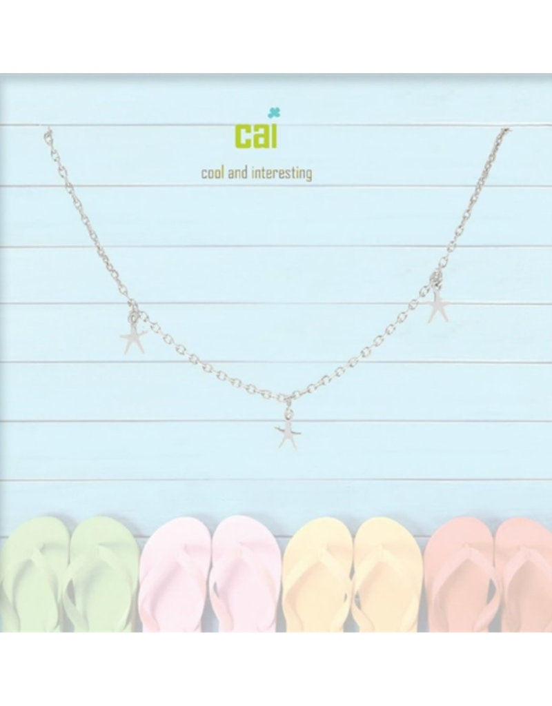22975 silver sea star dainty + dangle anklets