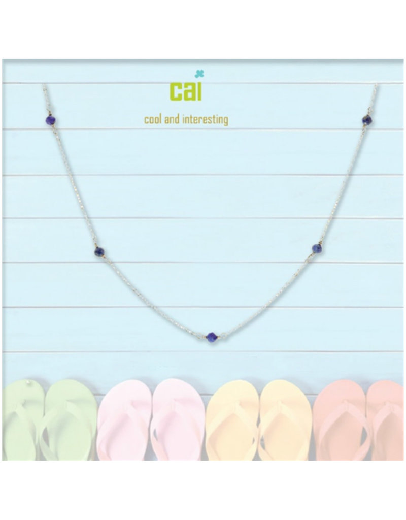 25777 silver lapis anklet