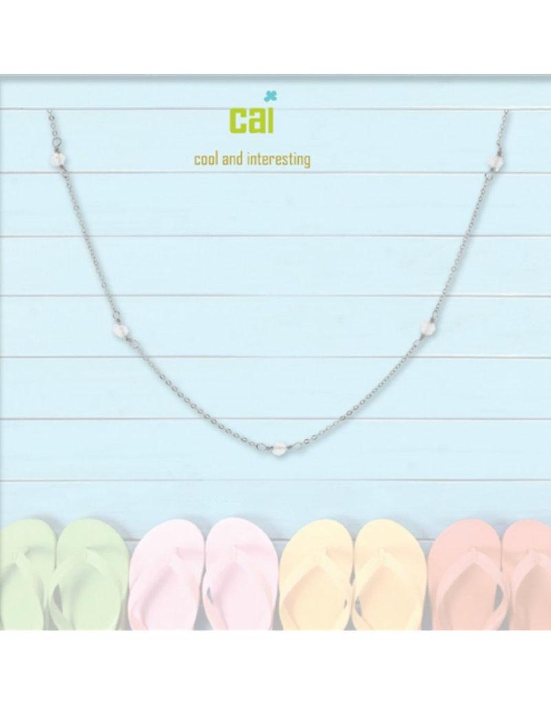 25781 silver crystal anklet