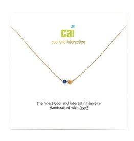 34098 Gold 'Sapphire-September' Mini Heart Birthstone Necklace