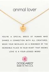 "DOGEARED ANIMAL LOVER BEST FRIEND HEART GOLD 16+2"""
