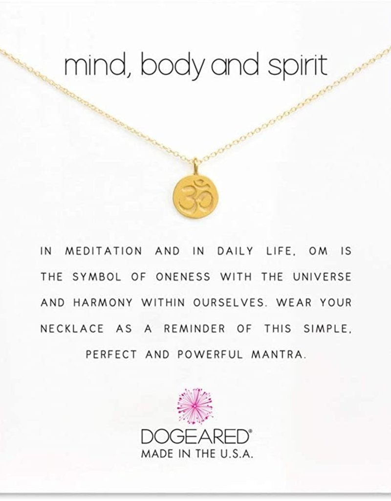 DOGEARED MIND BODY SPIRIT OM SYMBOL GOLD 16+2""