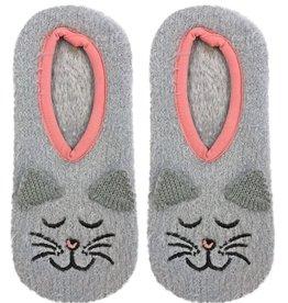 F01A Fuzzy Cat Slipper