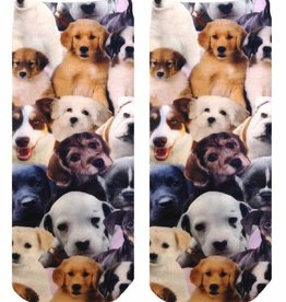 4101A Puppy All Over Ankle Socks