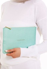 KATIE LOXTON KLB096 ADVENTURE AWAITS - THE PERFECT POUCH - METALIC AQUA