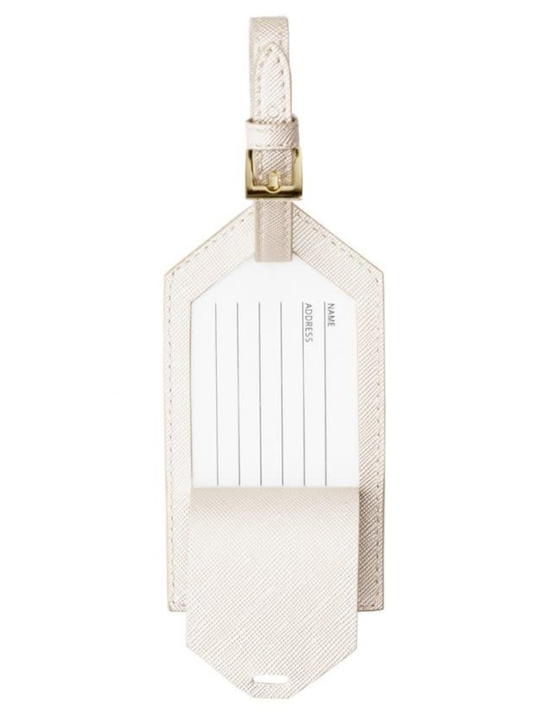 KATIE LOXTON KLB215 LUGGAGE TAG - JUST MARRIED - metallic white - 10x6cm